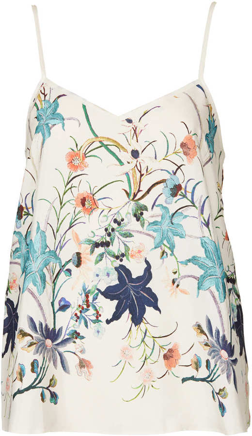 Topshop Floral Print V-Neck Cami
