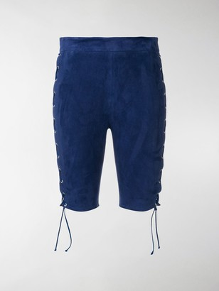 Unravel Project Side Lace Fitted Shorts