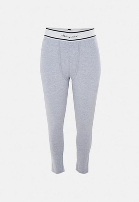 Missguided Plus Size Gray Waistband Loungewear Leggings