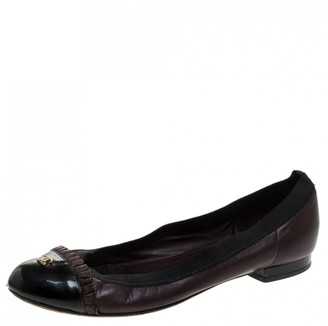 Chanel Burgundy Leather Ballet flats
