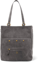Jerome Dreyfuss Serge Large Suede Tote - Gray