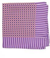 Eton Men's Geometric Silk Pocket Square