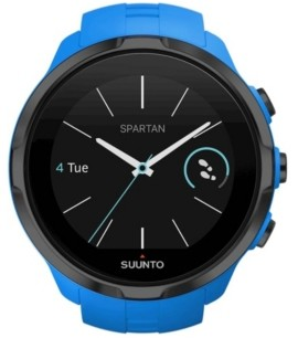 Suunto Spartan Sport Blue Wrist Hr, Blue Silicone Band with a Digital Dial