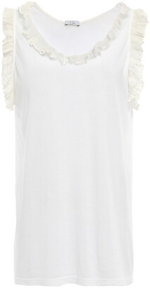 Clu Ruffle-trimmed Cotton And Modal-blend Jersey Top