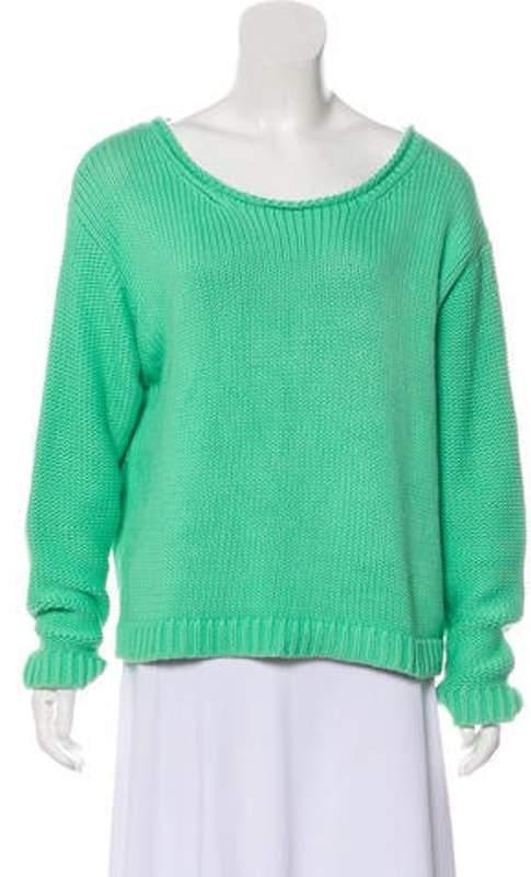 Acne Studios Long Sleeve Sweater Green Long Sleeve Sweater