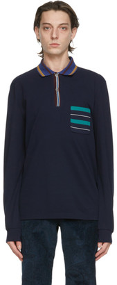 Missoni Navy Striped Polo
