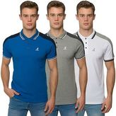 Kangol Mens Branded Classic Polo Shirt Block Coloured Top Button Up Tee