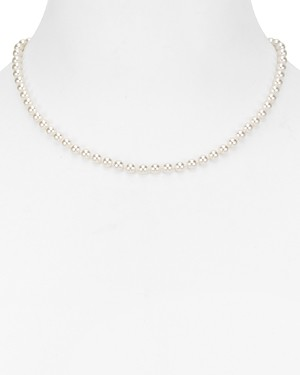 Nadri Simulated Pearl Collar Necklace, 16