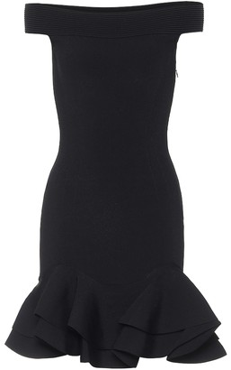 Alexander McQueen Off-shoulder minidress