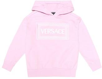 Versace Kids Logo cotton-jersey hoodie