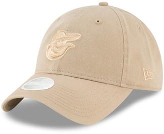 New Era Women's Brown Baltimore Orioles Core Classic Twill 9TWENTY Camel Adjustable Hat
