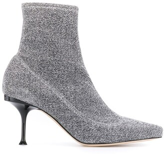 Sergio Rossi Lurex Ankle Boots