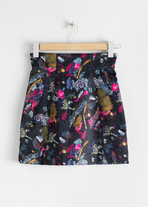 And other stories Graphic Sequin Print Mini Skirt