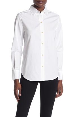 Vince Raw Edge Oversized Button Down Shirt