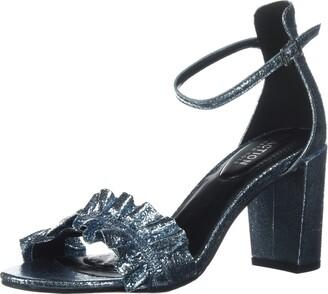 Kenneth Cole Reaction Women's Rise Ruffle Strap Open Toe Dress Sandal Heeled
