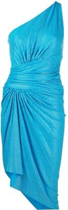 Alexandre Vauthier Crystal-Embellished Ruched One-Shoulder Dress