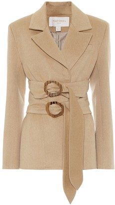 MATÉRIEL Double-belted wool-blend blazer
