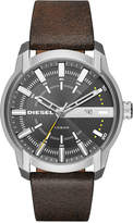 Diesel Men's Armbar Dark Brown Leather Strap Watch 45mm