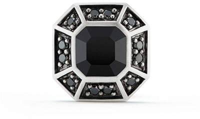 David Yurman Pavé Stud Earring with Black Diamonds