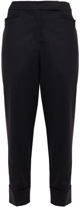 Simone Rocha Cropped Stretch-wool Twill Tapered Pants