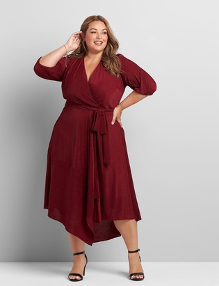 Lane Bryant Crossover High-Low Maxi Dress
