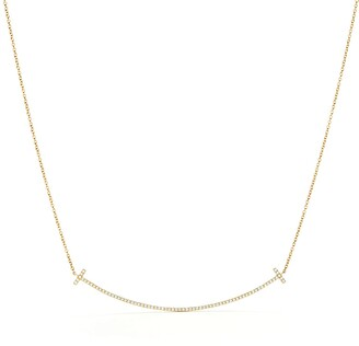 Tiffany & Co. T smile pendant in 18k gold with diamonds