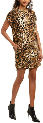 City Sleek Leopard Print Shift Dress