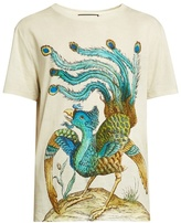 Gucci Peacock-print Cotton T-shirt