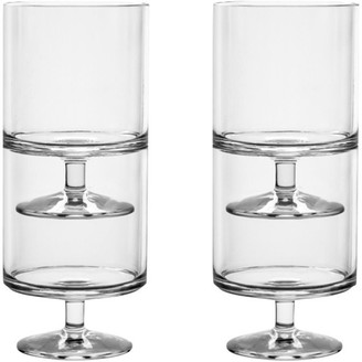 Indigo Stacking Wine Goblets - Set Of 4
