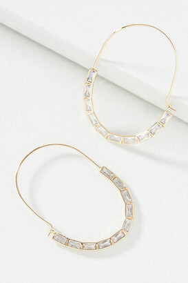 Anthropologie Fiona Hoop Earrings By in Clear