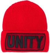 Versace Unity Manifesto beanie hat