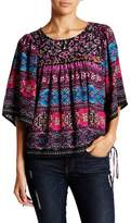 Romeo & Juliet Couture Elbow Sleeve Printed Blouse