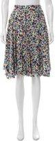 Nina Ricci Floral Print Silk Skirt