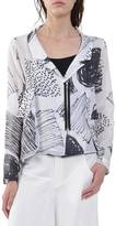 Crea Concept Asymmetrical Print Jacket
