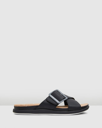 Clarks Women's Black Flat Sandals - Step Juneshell - Size One Size, 4 at The Iconic