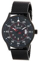 August Steiner Men&s Quartz Steel Mesh Bracelet Watch