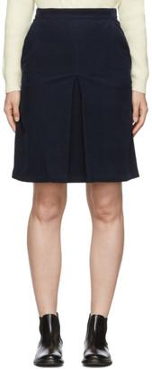A.P.C. Navy Coco Miniskirt