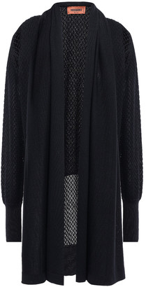 Missoni Draped Crochet-knit Wool-blend Cardigan