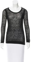 Rag & Bone Scoop Neck Open Knit Sweater