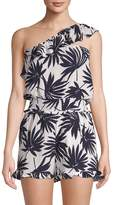 Lucca Couture Women's Kinsley Palm-Print Romper