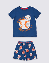 Marks and Spencer Pure Cotton Star WarsTM Short Pyjamas (1-8 Years)