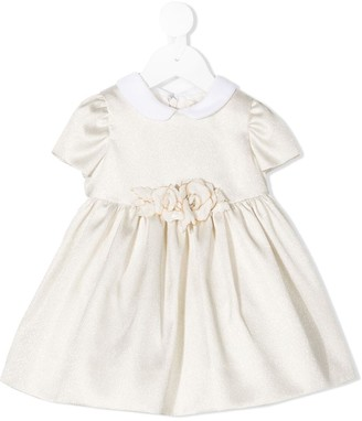 MonnaLisa Flower Applique Dress