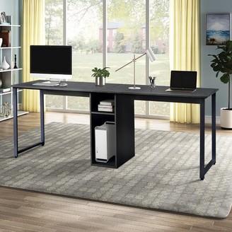 Inbox Zero Home Office Desk Color (Top/Frame): Black