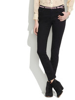 Madewell High Riser Skinny Skinny Ankle Jeans in Black Frost