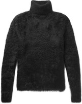 Saint Laurent Textured-Knit Rollneck Sweater