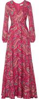 Etro Printed Silk Crepe De Chine Gown - Magenta