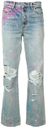 Amiri graffiti boyfriend jeans
