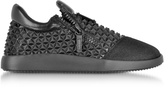 Giuseppe Zanotti Black Studded Leather Low Top Sneakers
