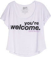 Delia's MTV's Awkward You're Welcome Tee