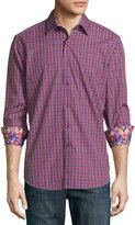 Robert Graham Clark Jr. Plaid Long-Sleeve Shirt, Pink